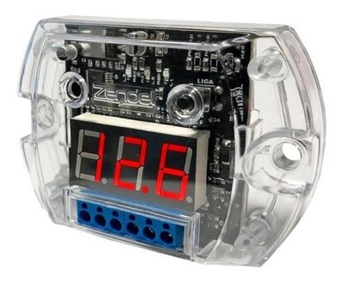 Voltímetro Sequenciador Zendel Digital Vermelho 12 Volts