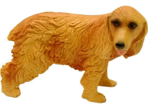 Miniatura Cão De Raça Cocker Inglês Em Resina