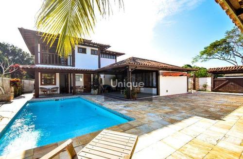 Casa Com 5 Dormitórios À Venda, 280 M² Por R$ 1.295.000,00 - Marina - Armação Dos Búzios/rj - Ca0997