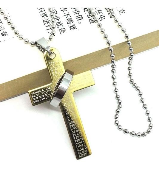 Corrente Crucifixo Com Pai Nosso