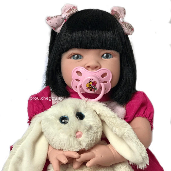 Bebe Tipo Realista Reborn Boneca Mais Barata Linda Chupeta
