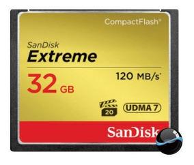 Cartão Memória Compact Flash Cf 32gb Sandisk Extreme 120mb/s