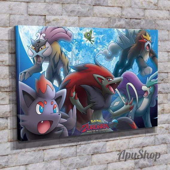 Cuadros Lienzo 45x30 Película Pokémon Pikachu Anime Y Más