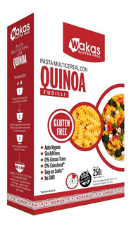 Pastas Fusilli Multicereal Gluten Free Wakas 6x250 G.