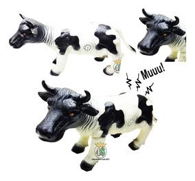 Vaca Fazenda Grande Macio Com Som - Brinquedo Boneco Vinil