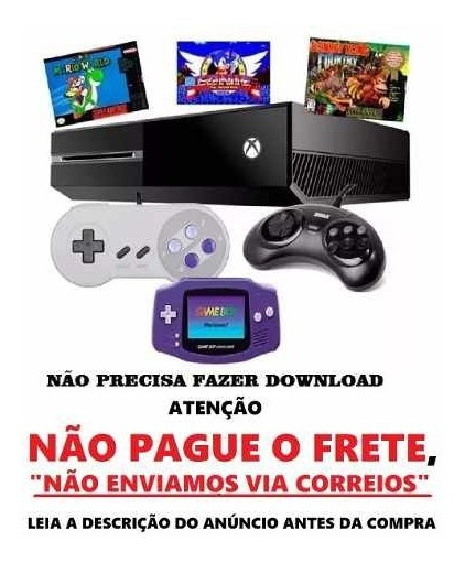 Xbox One Jogos Nintendo, Mega Drive,nes - 16 Mil Jogos
