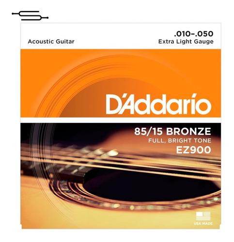 Imagen 1 de 3 de Cuerdas Guitarra Acustica Daddario 010 50 Encordado Ez900