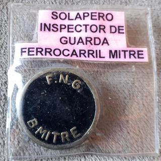 Antiguo Solapero De Inspector De Guarda Ferrocarril Mitre