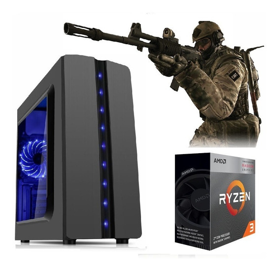 Pc Ryzen3 3200g Vega Granphis8+2 8gb Ram+hd 1tb+ 400w 80plus