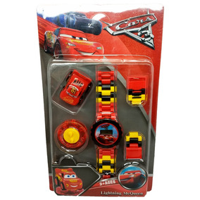 Relógio Digital Infantil Carros + Lego Relâmpago Mcqueen