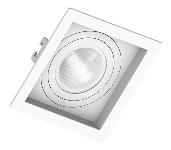 Embutido Par20 Quadrado Recuado Branco Ou Preto Save Energy