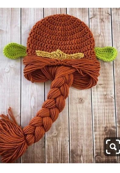 Touca Fiona Shrek De Crochê (tamanho Adulto)