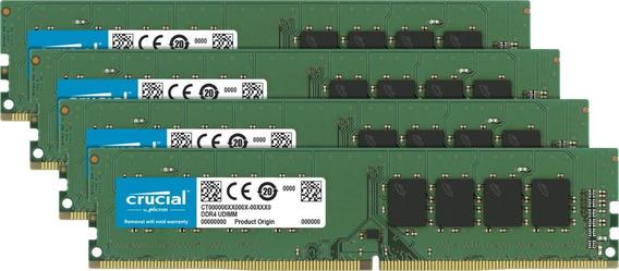 Memoria Ram 32gb (4x8gb) Ddr4 2666mhz Pc4-21300 Crucial