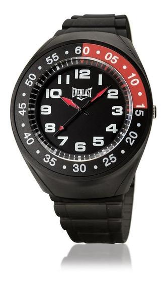 Relógio Masculino Caixa E Pulseira Pu Everlast E3011