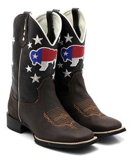 Bota Texana Masculina Lisa Bison Texas Café Bq 33022