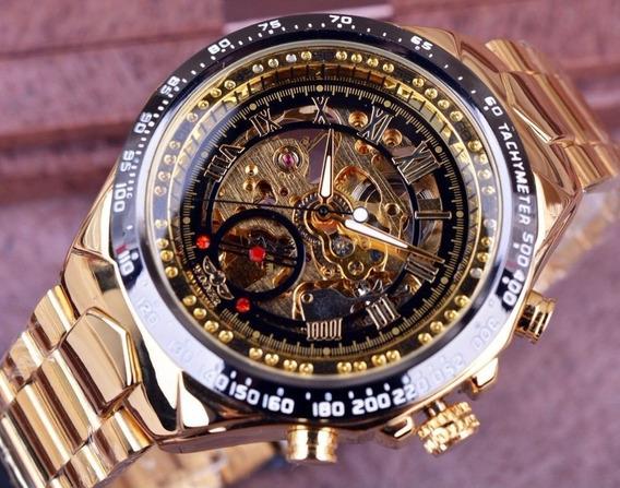Relógio Masculino Luxo Inox Automático Original