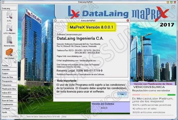 Maprex Version 8.0.0.1 Con Guia Comercial Del Mes Actual