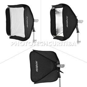 Softbox Andoe Flash Speedlite 80x80cm Suporte Bracket C/ Nfe