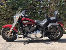 Harley Davidson Fatboy 2018 Equipada,unico Dueño Motor 114