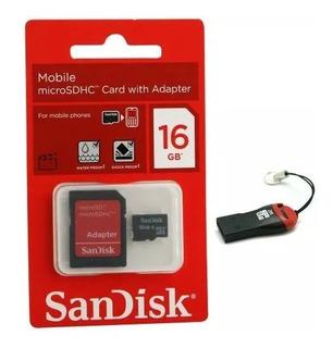 Cartão Memória Micro Sd Sandisk 16gb