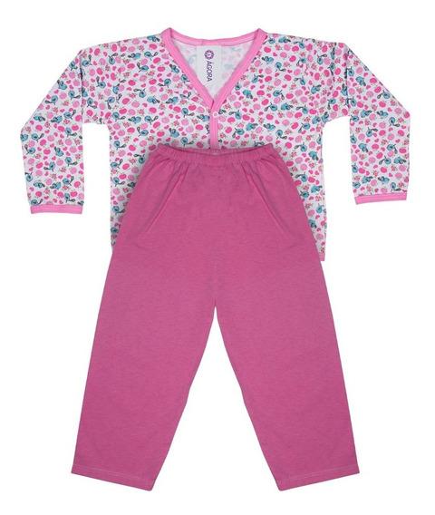 Conjunto Pijamas Com Botões Infantil - Meninas 1 A 8 Anos