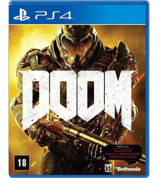 Doom Ps4 Midia Fisica - Original Como Novo Desconto Frete