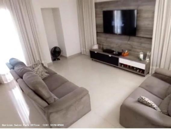 Casa Em Condomínio Para Locação Em Campinas, Swiss Park, 3 Dormitórios, 3 Suítes, 4 Banheiros, 4 Vagas - Ca067