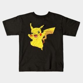 Remera Dragonfly Negra Y Blanca Pikachu Pokemon  Col. C 27
