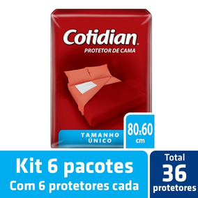 Kit Protetor De Cama Cotidian Tam. Único 6 Pacotes - 36 Un