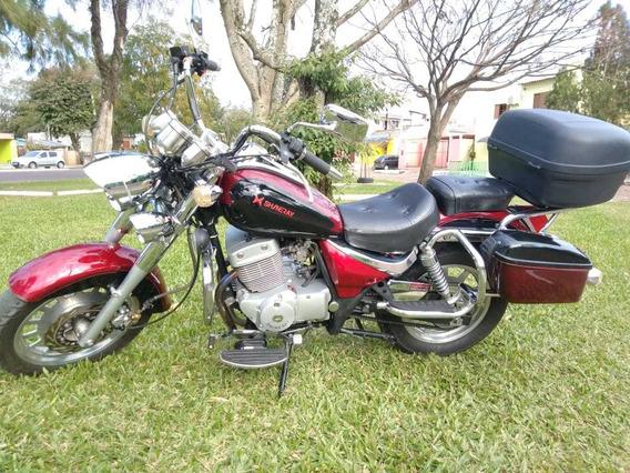 Moto Custom Shineray Xy 250cc 2012/2013 Semi Nova Baixo Km