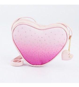 Bolsa Infantil Pampili De Coração Força Do Rosa Original