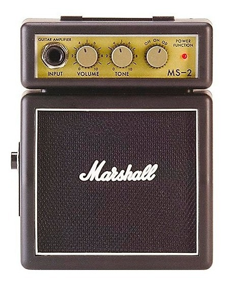Mini Amplificador Para Guitarra Marshall Ms2 Preto