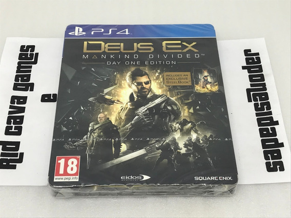 Deus Ex: Mankind Divided Day One Limited Steelbook Ps4