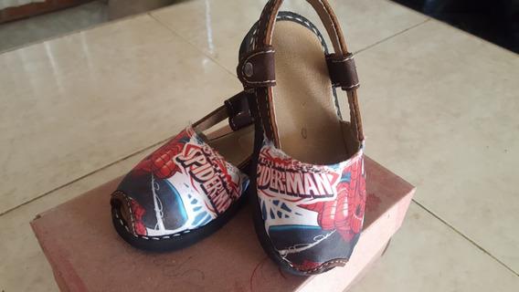 Bellas Zandalias Sublimadas Spiderman Usadas