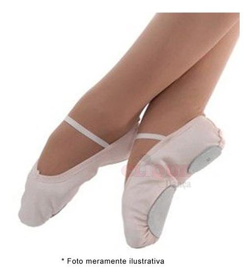 Sapatilha Ballet Meia Ponta Em Lona Ovinho Ballet