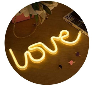 Cartel Neon Led Love Decoracion Retro Usb Luz Hogar Palermo