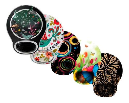 Imagen 1 de 8 de Mouse Pad Ergonómico Apoya Muñeca Mousepad Diseños Gel Real