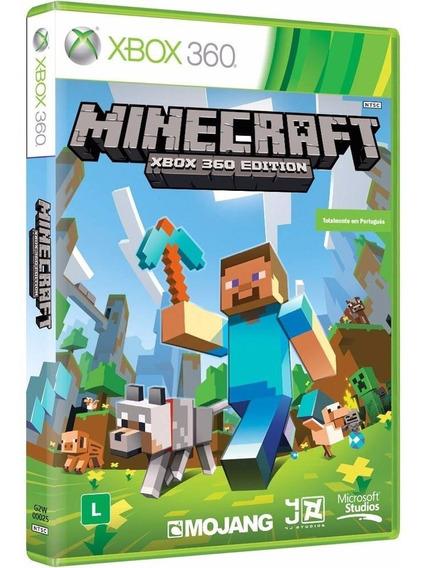 Jogo Minecraft Xbox 360 Mídia Português Pronta Entrega Novo