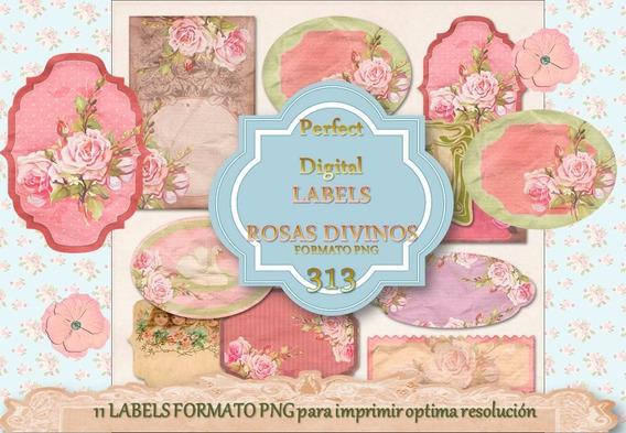 11 Label Etiquetas Decoupage Tarjetas Bodas 15 Años Souvenir