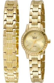 Relógio Feminino Dumont Elements Du2035lnr/4x, C/ Garantia