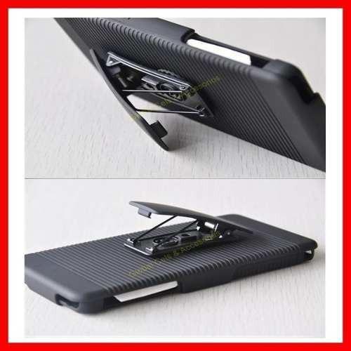 Protector Estuche Sony Xperia Z2 Clip Correa Holster Stock