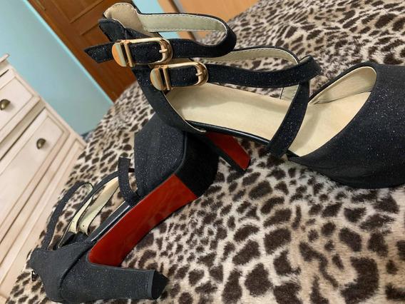 Zapatos Taco Alto Talle 40