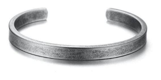 Pulseira Bracelete Homem Mulher Aço Inox Fosco Estilo Viking
