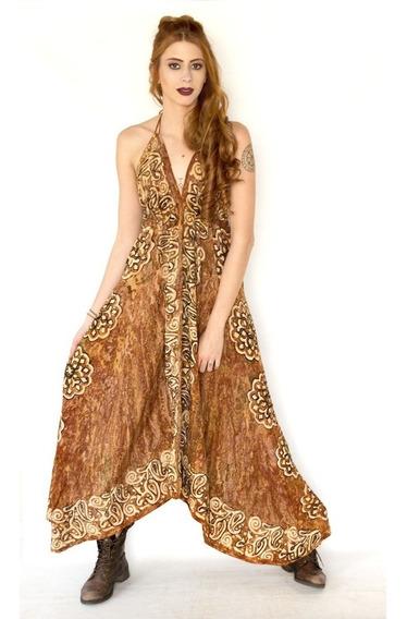 Vestido Indiano Longo Batik - De Pontas E Ajustável