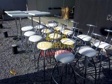 Alquiler De Banquetas,stand,sillas Altas,mesas Altas,desayun