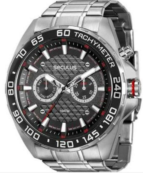 Relógio Seculus Masculino Action 20546g0svna1
