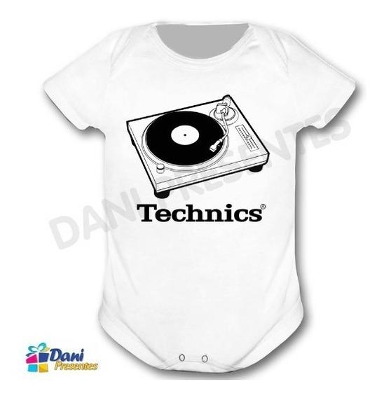 Body Toca Discos Technics - 100% Algodão