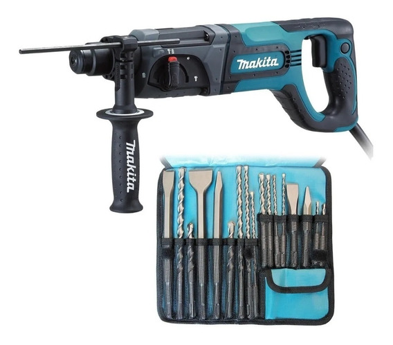 Taladro Rotomartillo Sds 780w + Brocas Y Cince Hr2475 Makita