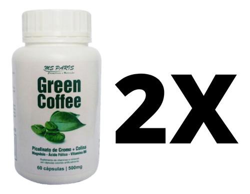2 Café Verde Cápsulas Suplemento Termogenico Emagrecimento