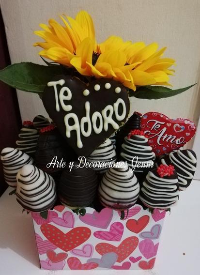 Arreglos Frutales, Fresas Con Chocolate, Flores, Peluches